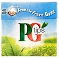 Thé (OBS) AUCUNE Pg tips thé noir - 40 sachets - 125 g