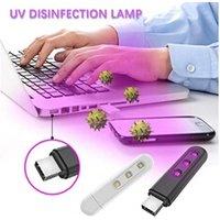Pièces détachées petit électroménager AUCUNE Lampe de désinfection germicide uv portable de voyage à la maison usb 2pcs