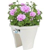Carré potager Icaverne Jardiniere - bac a fleur bac de balcon corsica flower bridge 30 - blanc - extérieur & balcon - l 29,6 x w 29,6 x h 24 cm