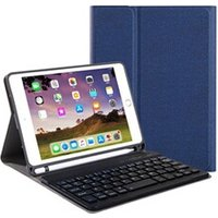 Clavier gamer AUCUNE Pour apple ipad 7e 10.2in2019 détachable bluetooth keyboard case cover stand bleu