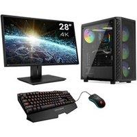 PC de bureau Sedatech Pack pc gaming ultimate intel i7-9700f, geforce rtx 2080, 16 go ram, 500go ssd m.2 pcie, 2to hdd avec écran 28