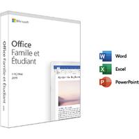Logiciel Microsoft OFFICE FAMILLE ET ETUDIANT 2019 1 PC OU 1 MAC