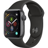 Apple watch Apple SERIE 4 GPS CELLULAR 40MM BOITIER ACIER INOXYDABLE NOIR SIDERAL BRACELET SPORT NOIR
