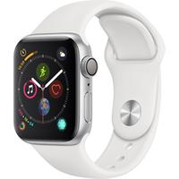 Apple watch Apple SERIE 4 GPS CELLULAR 40MM BOITIER ACIER BRACELET SPORT BLANC