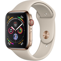 Apple watch Apple Apple Watch Série 4 GPS Cellular 44mm Boîtier en acier inoxydable or avec Bracelet Sport Grey sable