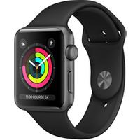 Apple watch Apple SERIE 3 GPS 42MM BOITIER ALUMINIUM GRIS SIDERAL BRACELET SPORT NOIR