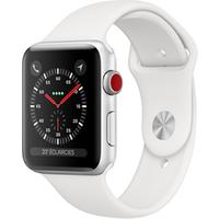 Apple watch Apple Apple Watch Série 3 GPS Cellular 42mm Boîtier en aluminium Silver avec Bracelet Sport White