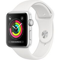Apple watch Apple Apple Watch Série 3 38mm Boîtier en aluminium Silver avec Bracelet Sport White
