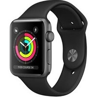 Apple watch Apple Apple Watch Série 3 GPS 38mm Boîtier en aluminium Grey sidéral avec Bracelet Sport Black