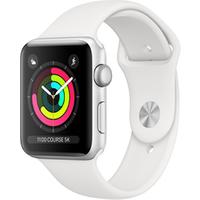 Apple watch Apple Apple Watch Série 3 GPS 42mm Boîtier en aluminium Silver avec Bracelet Sport White