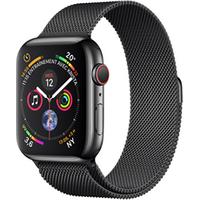 Apple watch Apple Apple Watch Série 4 GPS Cellular 40mm Boîtier en acier inoxydable avec Bracelet Milanais