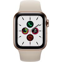 Apple watch Apple Apple Watch Series 5 GPS Cellular 44mm, Boitier Acier Inoxydable Or avec Bracelet Sport Stone S M M L