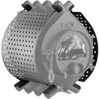 Ofenverkleidung für Warmluftofen Kanuk Original 6,7 KW & 9,5 kW, BxL: 43 x 43 cm, Edelstahl