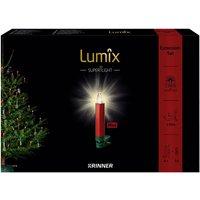 Christbaumkerzen Lumix Superlight mini, Rot   Grün, 6er