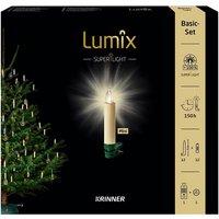Christbaumkerzen Lumix Superlight mini, Elfenbein, 12er