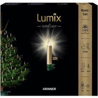 Christbaumkerzen Lumix Superight mini, gold, 12er