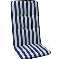 Sesselauflage »Basic Line«, blau/weiss, BxL: 50 x 120 cm