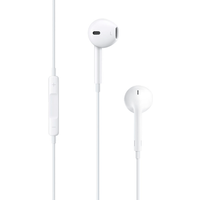 Apple Image Wired Stereo Earset - Earbud - Outer-ear - Red, White - USB, Mini-phone (MD827ZM/A)