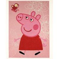 Kinderteppich, »Lizenz Peppa Pig - Schmetterling«, HANSE Home, rechteckig, Höhe 7 mm, maschinell getuftet