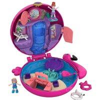 Polly Pocket - Pocket-Welt-Schatulle, Flamingo-Schwimmring (FRY38)