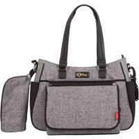 QPlay - 2-in-1 Wickeltasche, grau meliert