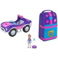 Polly Pocket - Bundle Strandspaß-Rucksack und SUV Adventure Wheels