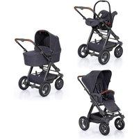 ABC Design - Viper 4 All In One, Street, Kinderwagen mit Babywanne und Babyschale, Luftreifen, grau