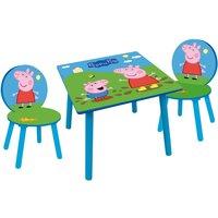 Peppa Pig - Tisch und Stühle aus Holz