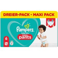 Pampers - Windeln 3er Pack Baby Dry Nappy Pants Gr. 6 XL (70 Stück)