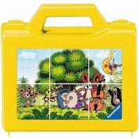 Ravensburger - Würfelpuzzle: Der kleine Maulwurf im Garten, 6 Teile