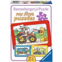 Ravensburger - My First Puzzles: Bagger, Traktor und Kipplader, 6 Teile