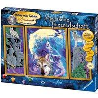 Ravensburger - Malen nach Zahlen Premium: Mystische Freundschaft, 3-teilig