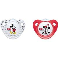 NUK - Schnuller Silikon 2er Pack Mickey Mouse sortiert, Gr.2