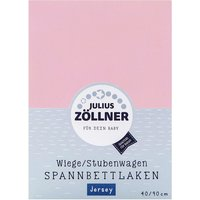 Zöllner - Spannbetttuch Jersey, Rosa (40x90)