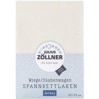 Zöllner - Spannbetttuch Jersey ecru (40x90)