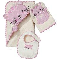 Worldtex - Geschenkset Katze rosa, 3-tlg.