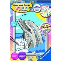 Ravensburger - Malen nach Zahlen: Delfin mit Pailletten