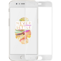 OnePlus 5 3D Tempered Glass Screen Protector (White)