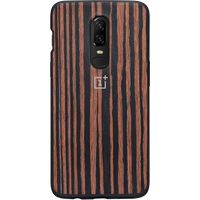 OnePlus 6 Ebony Wood Bumper Case