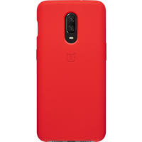 OnePlus 6T Silicone Protective Case (Red)