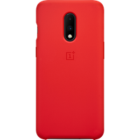 OnePlus 7 Silicone Protective Case (Red)