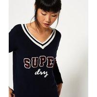 Superdry Super Logo Vee Knit Jumper
