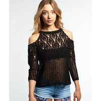 Superdry Feather Crochet Knit Top
