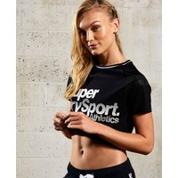 Superdry Sport Model Airtex Cropped Top