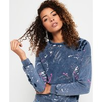 Superdry Splatter Paint Punk Crew Sweatshirt