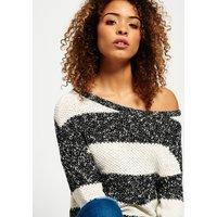 Superdry West Textured Stripe Knit Jumper