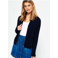 Superdry Evie Cable Knit Bomber Jacket