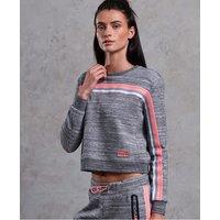 Superdry Gym Tech Bounce Crop Crew Sweatshirt