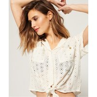 Superdry Louise Tie Front Blouse