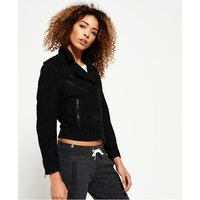 Superdry Mhairi Nubuck Leather Jacket